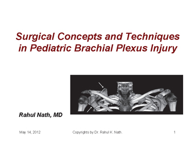 This presentation has been created by Dr. Rahul K Nath. Surgical Concepts and Techniques